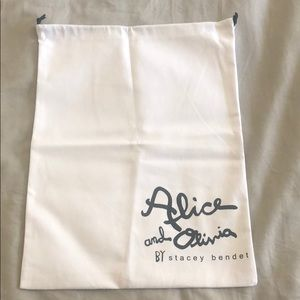 NEW ❤️ Alice and Olivia Dust Bag